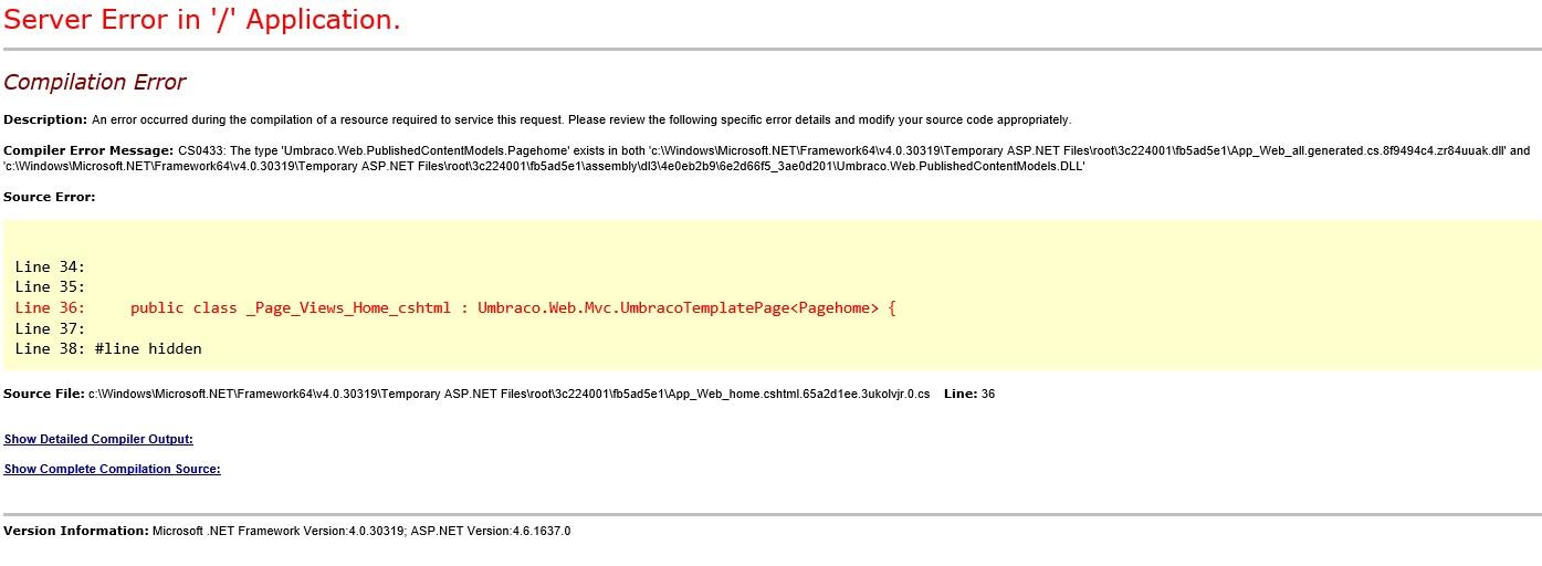 Celtic Coding Solutions Blog | Umbraco 7 6 Compiler error Type